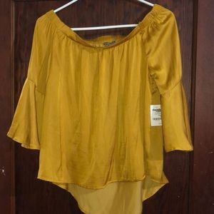 Gold/yellow off the shoulder top